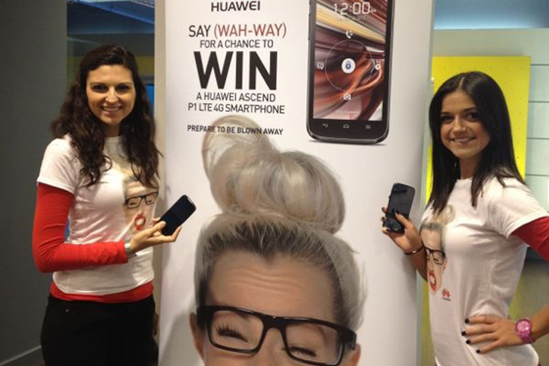 Zest Exhibitions Staff drive traffic at Huawei promotion