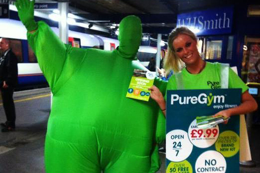 Zest Leafleting Teams in action for Pure Gym