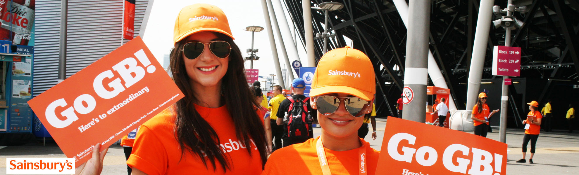 Promotional Staff promoting Sainsburys at event